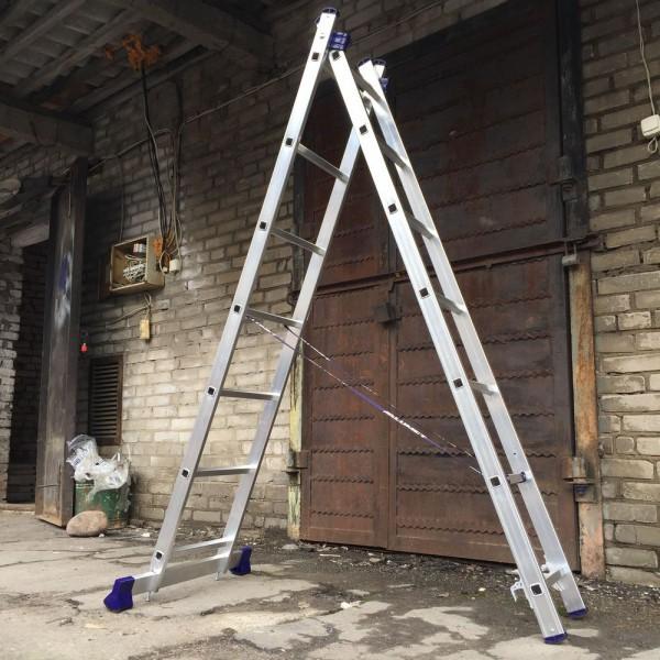 Алюминиевая двухсекционная лестница 5207 - 4
