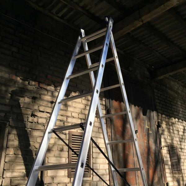 Алюминиевая двухсекционная лестница 5208 - 4