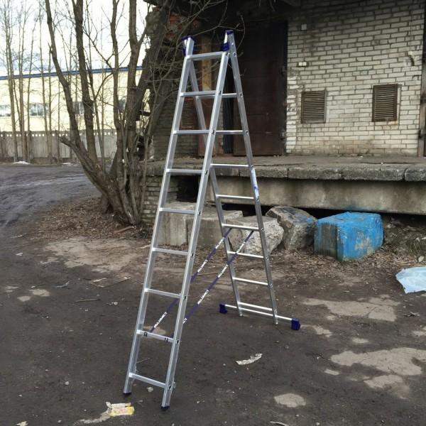 Алюминиевая двухсекционная лестница 5209 - 1