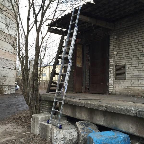 Алюминиевая трехсекционная лестница 5307 - 6