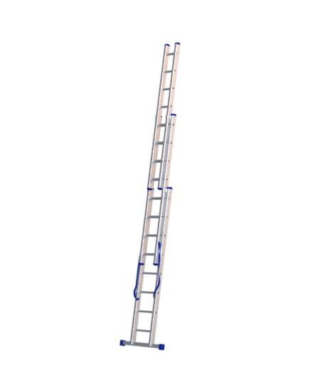 Алюминиевая трехсекционная лестница 5308 - 1
