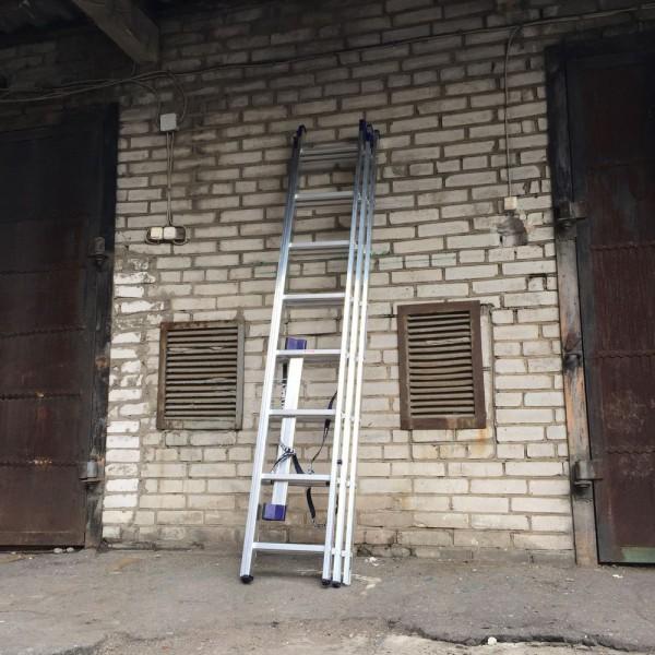 Алюминиевая трехсекционная лестница 5308 - 4