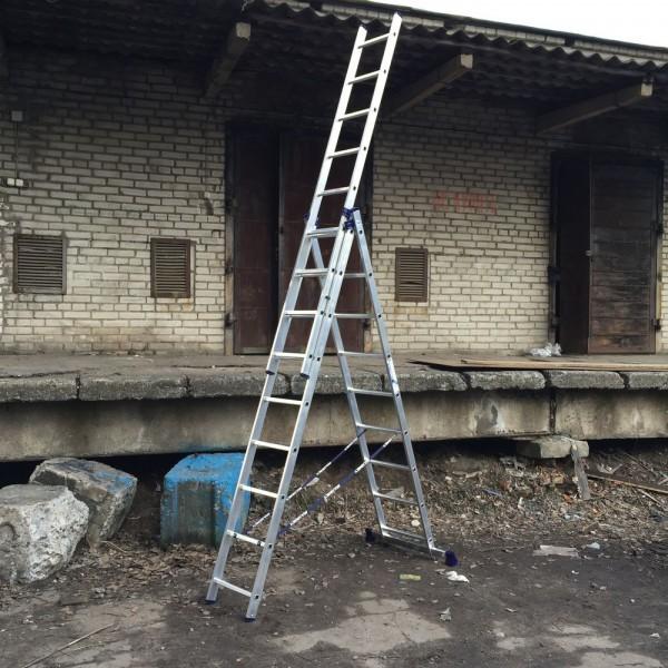 Алюминиевая трехсекционная лестница 5309 - 6