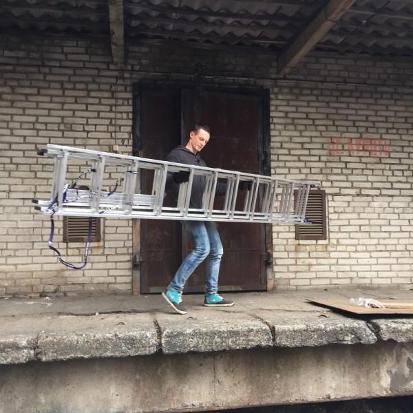 Алюминиевая трехсекционная лестница 5311 - 8