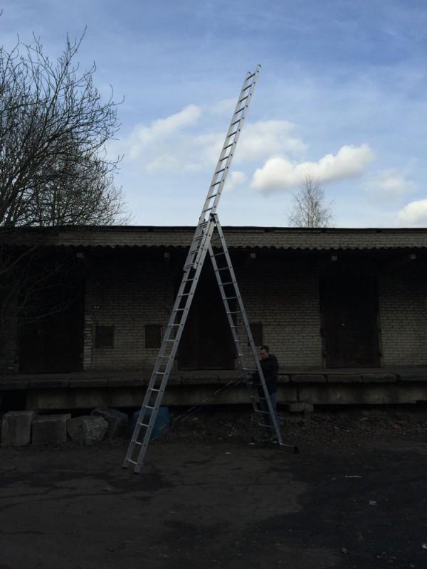 Алюминиевая трехсекционная лестница 6315 - 4