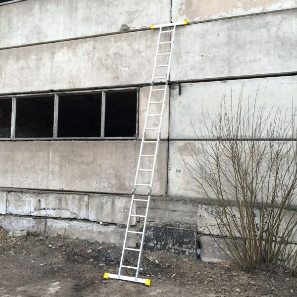 Лестница алюминиевая шарнирная  (2*4+2*5)  Т445 - 2