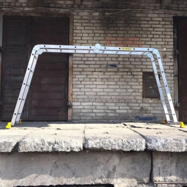 Лестница алюминиевая шарнирная  (2*4+2*5)  Т445 - 3