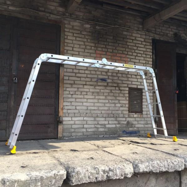 Лестница алюминиевая шарнирная  (2*4+2*5)  Т445 - 4