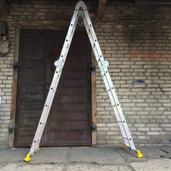 Лестница алюминиевая шарнирная  (2*4+2*5)  Т445 - 5