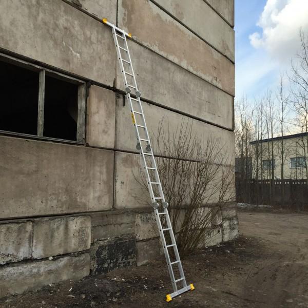 Лестница алюминиевая шарнирная  (2*4+2*5)  Т445 - 6