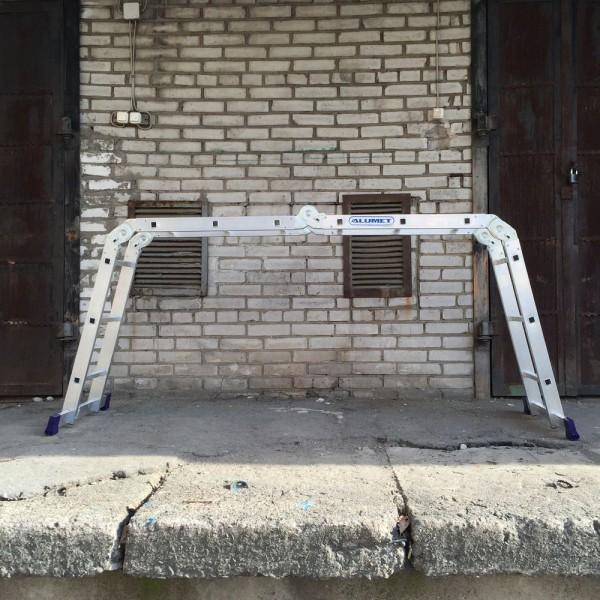 Лестница алюминиевая шарнирная (4*3)  Т433 - 1