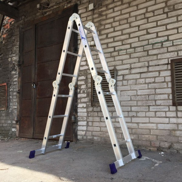 Лестница алюминиевая шарнирная (4*3)  Т433 - 3