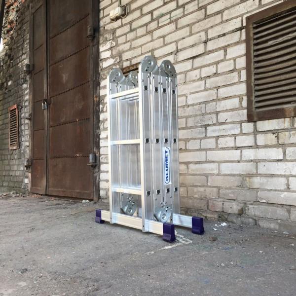 Лестница алюминиевая шарнирная (4*3)  Т433 - 5