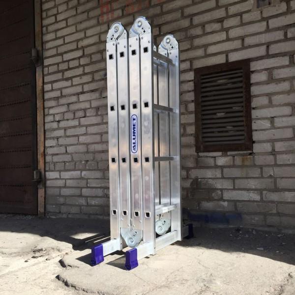 Лестница алюминиевая шарнирная (4*4)  Т444 - 1