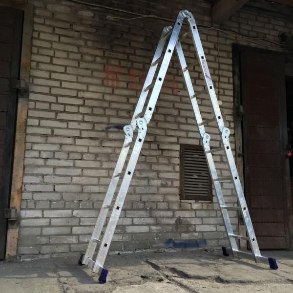 Лестница алюминиевая шарнирная (4*4)  Т444 - 2