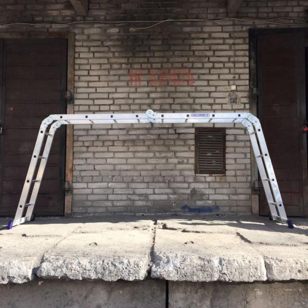 Лестница алюминиевая шарнирная (4*4)  Т444 - 3