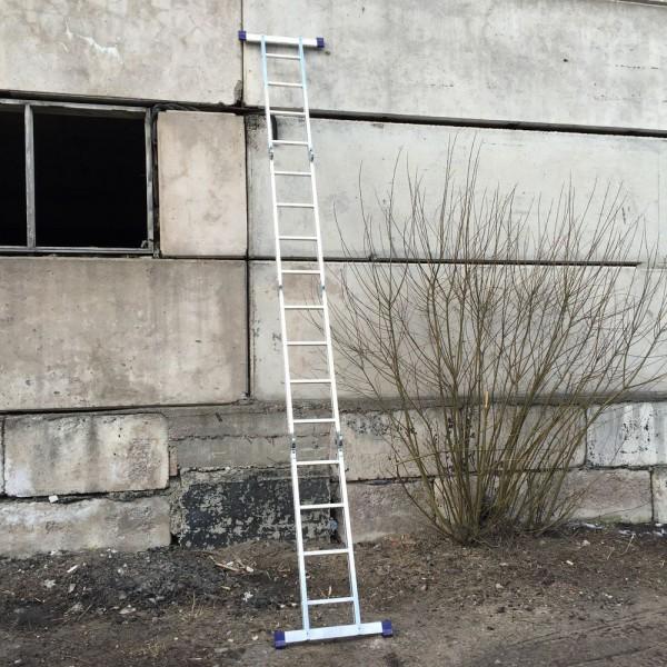 Лестница алюминиевая шарнирная (4*4)  Т444 - 4