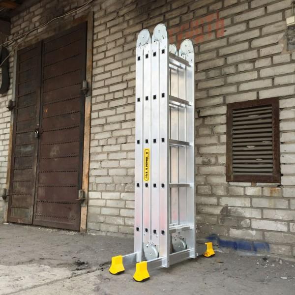Лестница алюминиевая шарнирная (4*5)  Т455 - 1