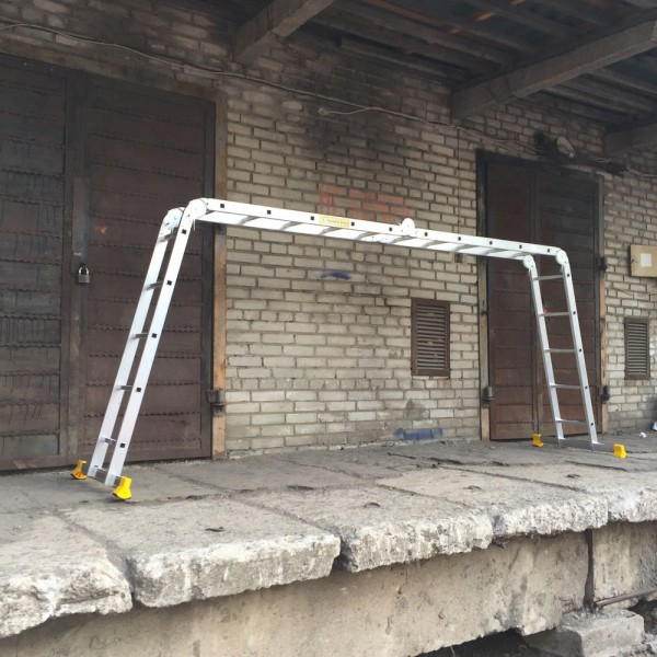 Лестница алюминиевая шарнирная (4*5)  Т455 - 2