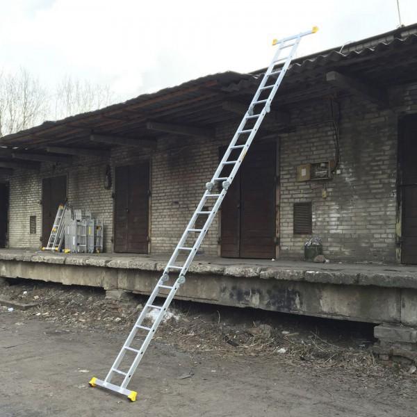 Лестница алюминиевая шарнирная (4*5)  Т455 - 3