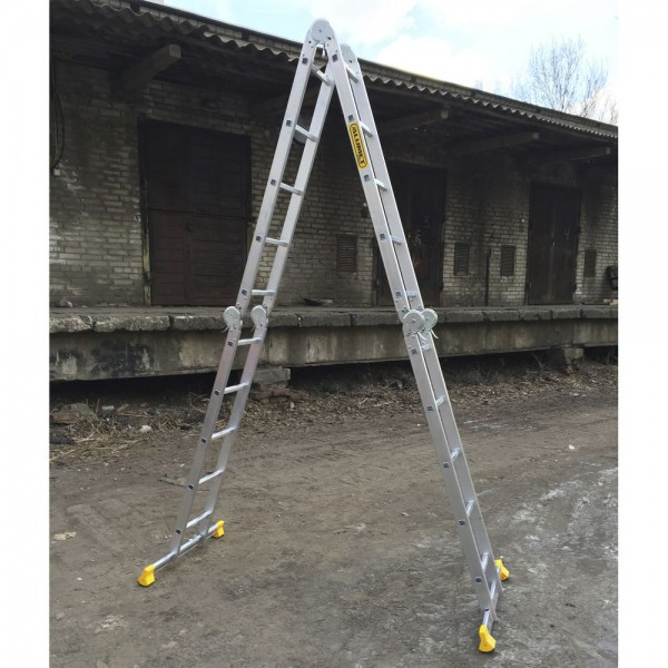 Лестница алюминиевая шарнирная (4*5)  Т455 - 4