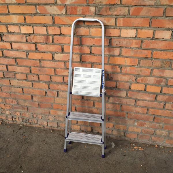 Лестница-стремянка алюминиевая матовая  3-х ст. Ам703 - 3