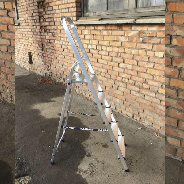 Лестница-стремянка алюминиевая матовая  5-х ст. Ам705 - 5