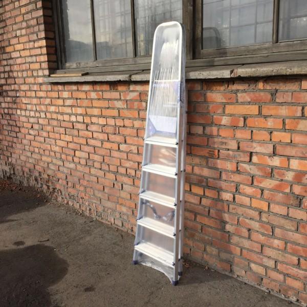 Лестница-стремянка алюминиевая матовая  6-и ст. Ам706 - 1