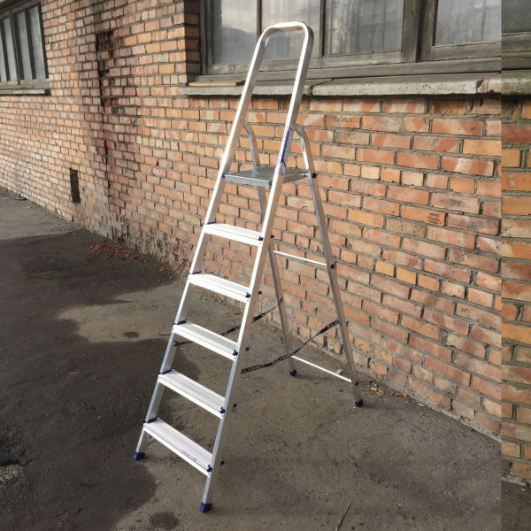 Лестница-стремянка алюминиевая матовая  6-и ст. Ам706 - 4