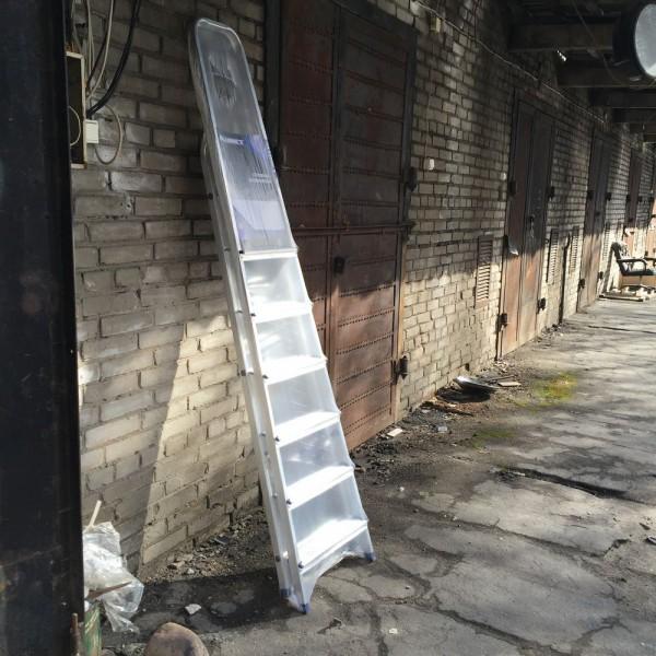 Лестница-стремянка алюминиевая матовая  7-и ст. Ам707 - 1