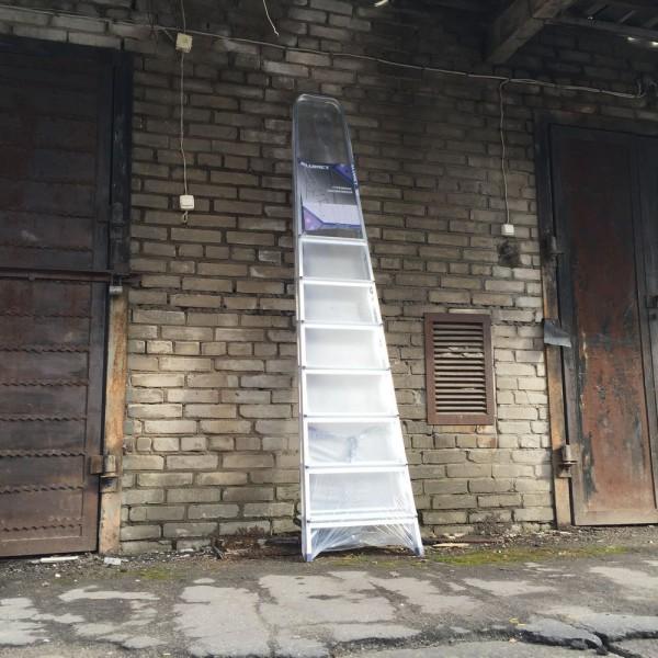 Лестница-стремянка алюминиевая матовая  8-и ст. Ам708 - 1