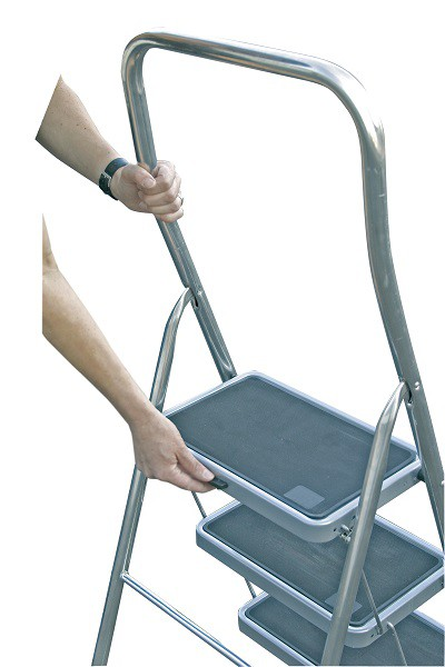 TOPPY XL Лестница складная - стремянка, алюм. 3 ступеньки - 2