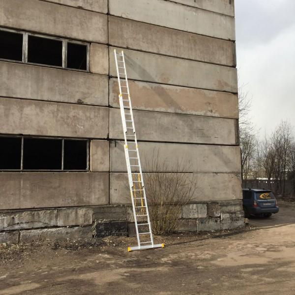 Алюминиевая трехсекционная универсальная профессиональная лестница P3 9312 - 2