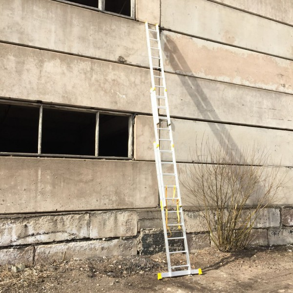 Алюминиевая трехсекционная универсальная профессиональная лестница P3 9310 - 2