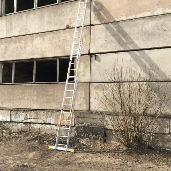 Алюминиевая трехсекционная универсальная профессиональная лестница P3 9310 - 3
