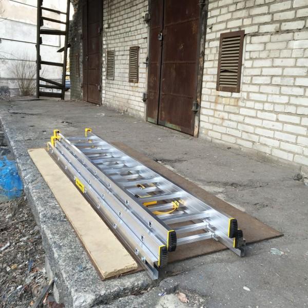 Алюминиевая трехсекционная универсальная профессиональная лестница P3 9308 - 5