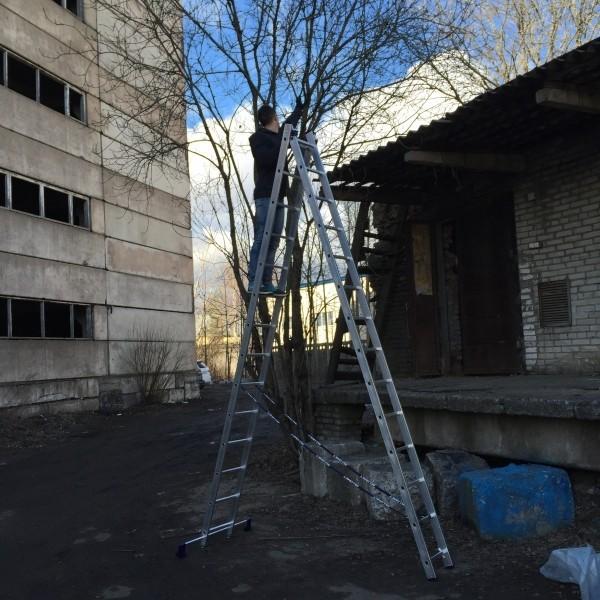 Алюминиевая двухсекционная лестница 5214 - 1