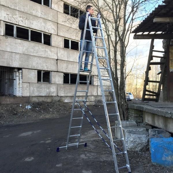 Алюминиевая двухсекционная лестница 5214 - 2