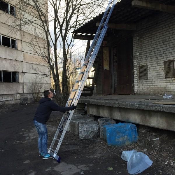 Алюминиевая двухсекционная лестница 5214 - 5