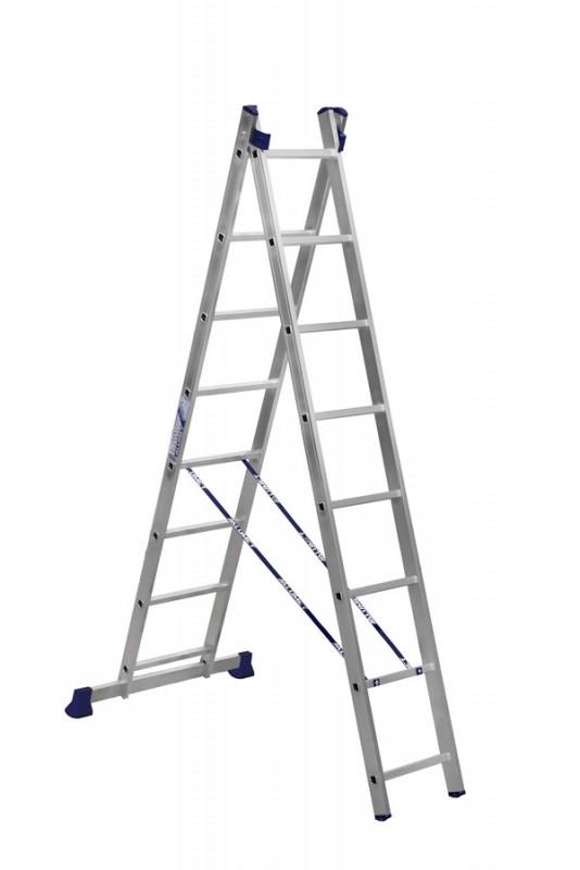 Алюминиевая двухсекционная лестница 5208 - 203