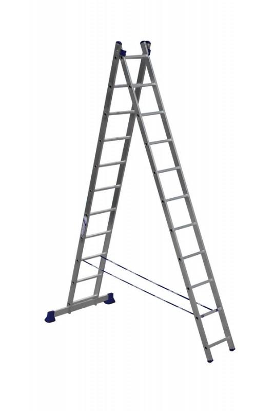 Алюминиевая двухсекционная лестница 5211 - 206
