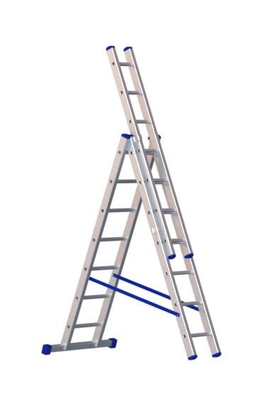 Алюминиевая трехсекционная лестница 5307 - 209