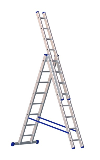 Алюминиевая трехсекционная лестница 5308 - 210