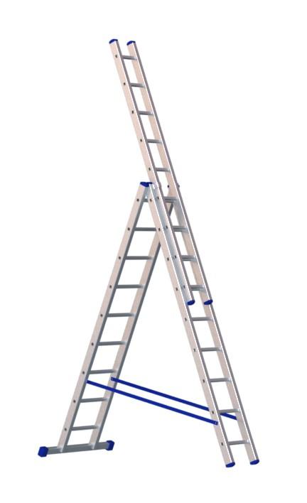 Алюминиевая трехсекционная лестница 5309 - 211