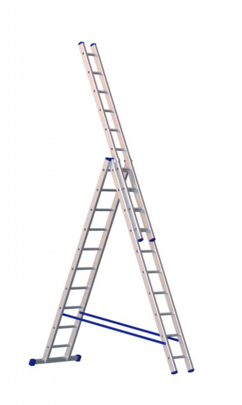 Алюминиевая трехсекционная лестница 5310 - 212