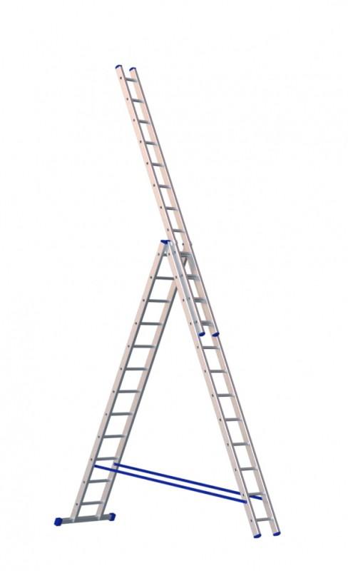 Алюминиевая трехсекционная лестница 5312 - 215