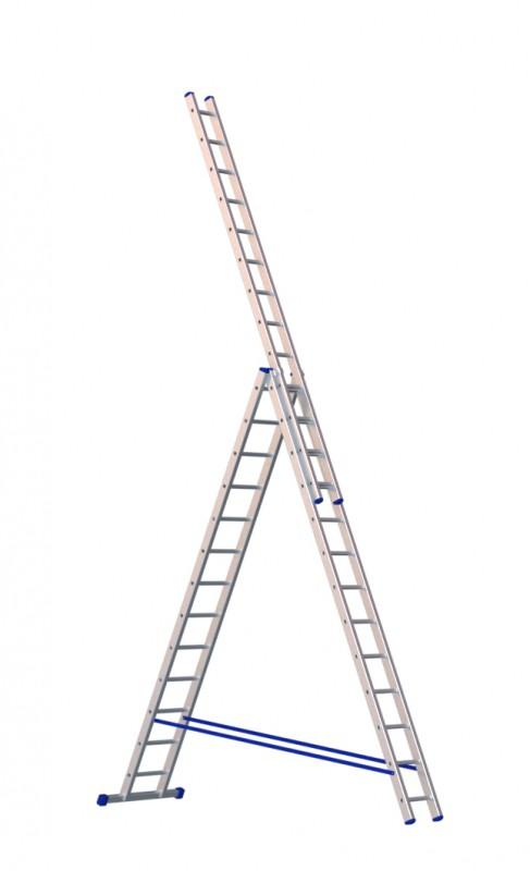 Алюминиевая трехсекционная лестница 5313 - 216