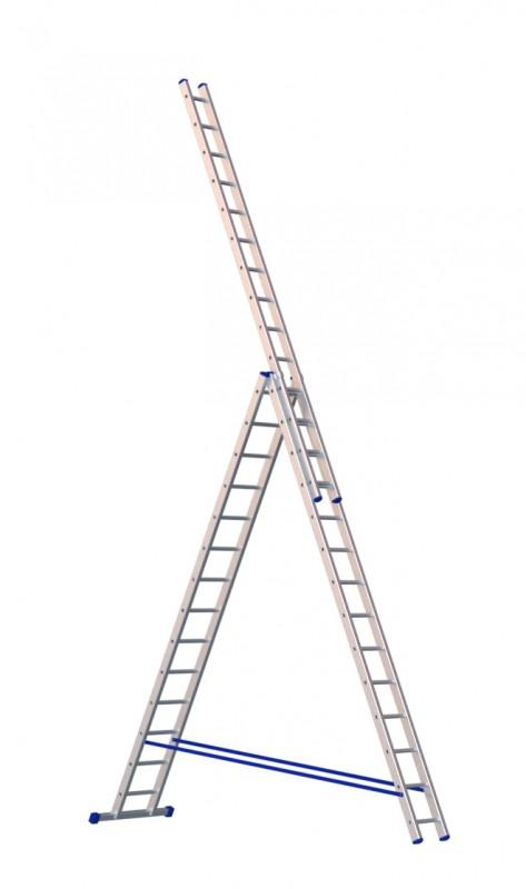 Алюминиевая трехсекционная лестница 5314 - 217