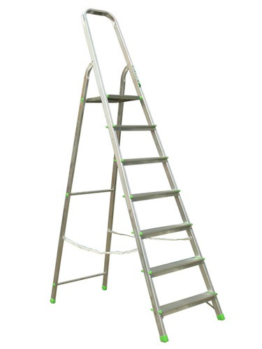 Лестница-стремянка алюминиевая матовая  7-и ст. Ам707 - 300