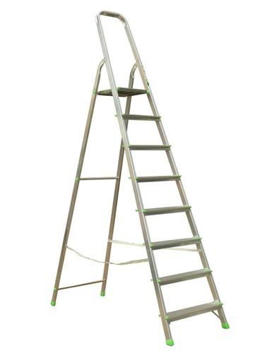 Лестница-стремянка алюминиевая матовая  8-и ст. Ам708 - 301